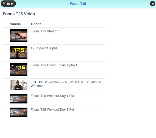 Focus T25 Workout Exercise