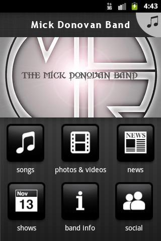Mick Donovan Band- screenshot