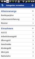 Screenshot of VSB Haushaltsplaner