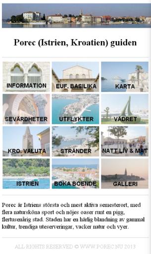 Porec Kroatien guide