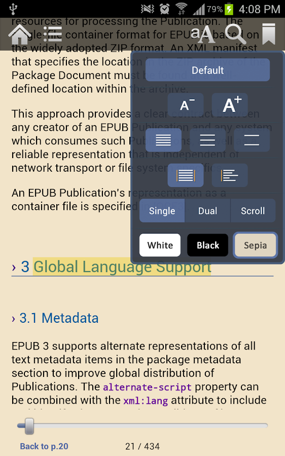 Gitden EPUB3 Reader - screenshot