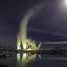 BlueLagoon Factory  by Kristvin Guðmundsson - Landscapes Travel ( lagoon, blue, ice, stars, snow, white, blue lagoon, lake, , serenity, mood, factory, charity, autism, light, awareness, lighting, bulbs, LIUB, april 2nd, #GARYFONGDRAMATICLIGHT, #WTFBOBDAVIS )