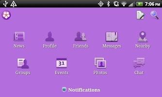 Screenshot of Purple Theme for Facebook