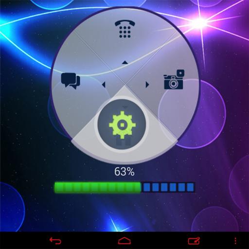 霓虹蓝高清GO锁屏主题 LOGO-APP點子