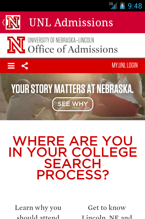 Visit UNL- screenshot