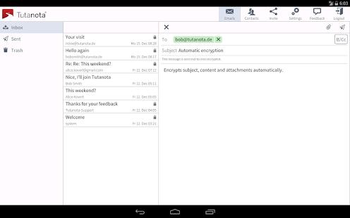 Tutanota: simply secure emails Screenshot 7