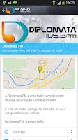 Screenshot of Rádio Diplomata FM - Brusque