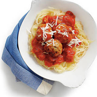 Spaghetti Squash and Meatballs.