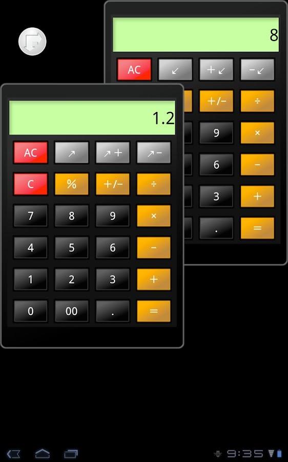 Calc2.0 for tablet- screenshot