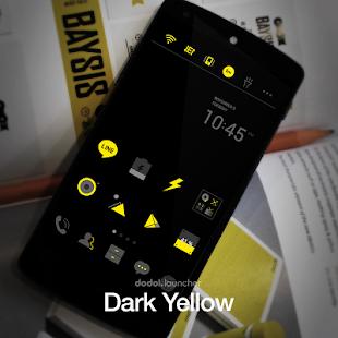 Dark Yellow Dodol Theme