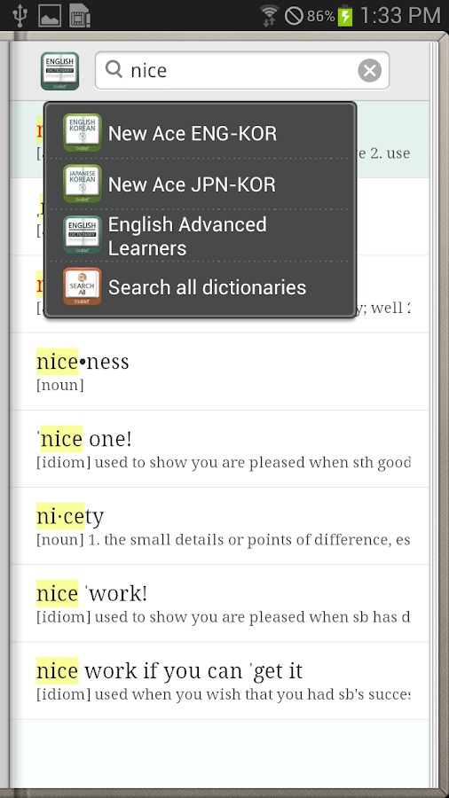 DioDict English Learners Dict - screenshot