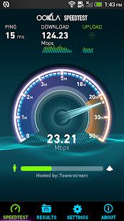 Speedtest.net: miniatura de captura de pantalla
