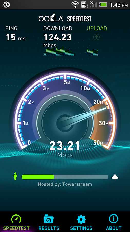 Speedtest.net: captura de tela
