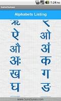 Screenshot of Learn Hindi Alphabet Writing