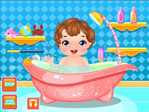 新鮮的寶寶洗澡遊戲