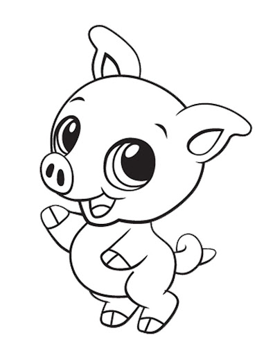 Coloring Book Cute Animals