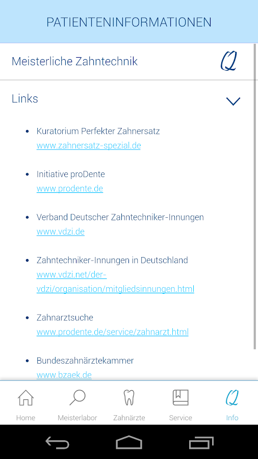 Zahnersatz- screenshot