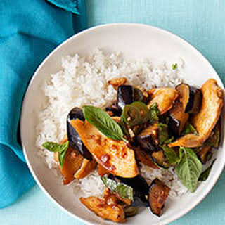 Chicken and Eggplant Stir-Fry.