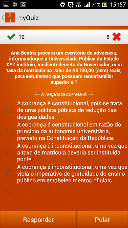 My Quiz: captura de tela