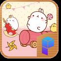 몰랑 꺄르륵 놀이방 런처플래닛 테마 icon