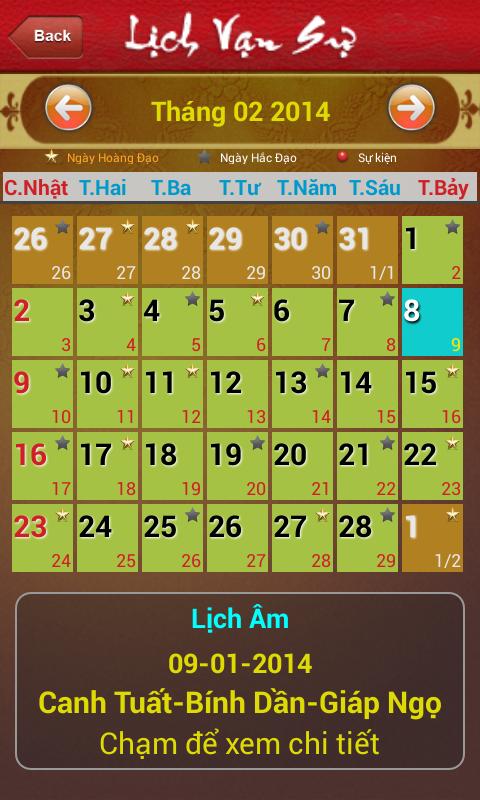 Âm Lịch Âm리치 베트남 - 반 쓰 - screenshot