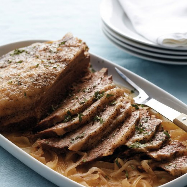 Slow-Cooker Brisket and Onions Recipe
