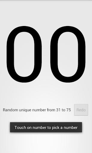 Random Unique Number Generator