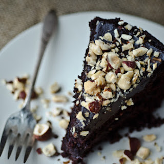 Chocolate Hazelnut Avocado Cake