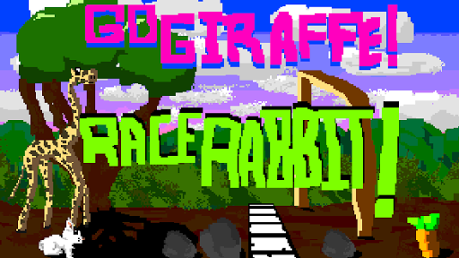 Go Giraffe Race Rabbit