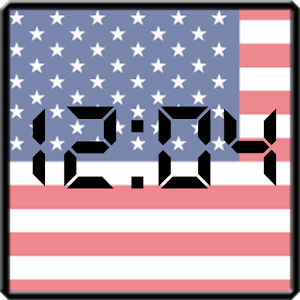 download Flag LCD Clock Widget USA apk
