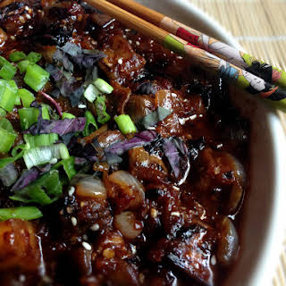 Spicy Vegan Chinese Eggplant.