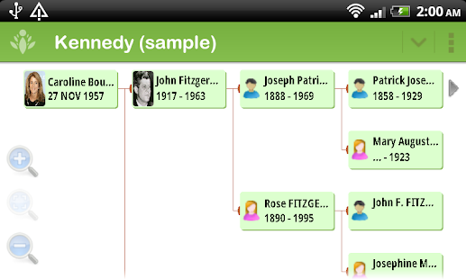 FamilyGTG (free) - Family Tree - screenshot thumbnail