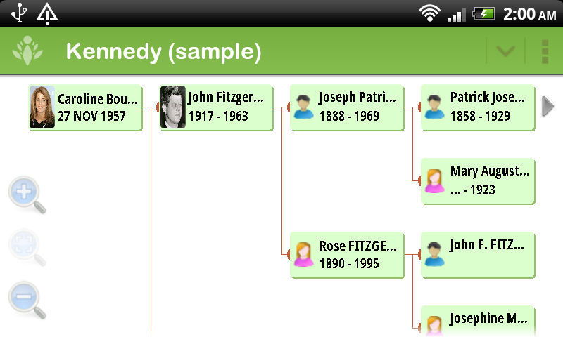 FamilyGTG (free) - Family Tree - screenshot