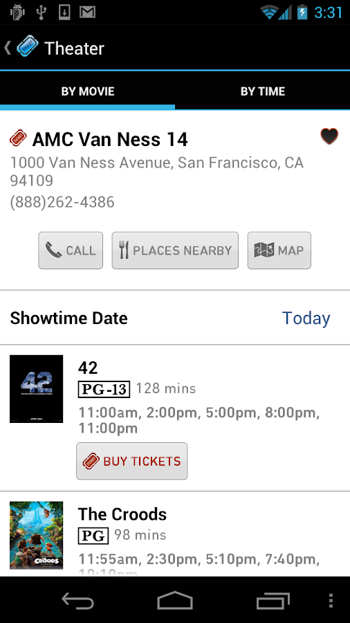 Moviefone - Movies & Showtimes - screenshot