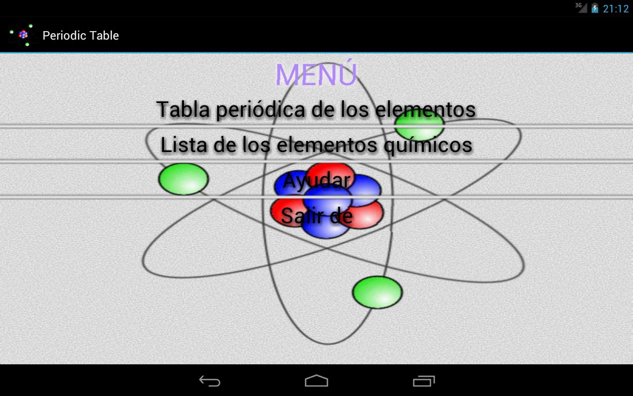 Tabla peridica aplicaciones de android en google play tabla peridica captura de pantalla urtaz Choice Image