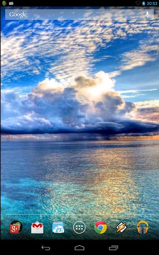Blue Sea. Live Wallpaper.