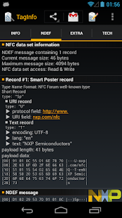 NFC TagInfo by NXP - screenshot thumbnail