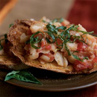 Tomato and Bean Bruschetta
