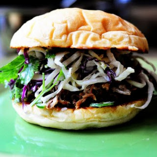 Pork Sandwiches with Cilantro-Jalapeno Slaw Recipe