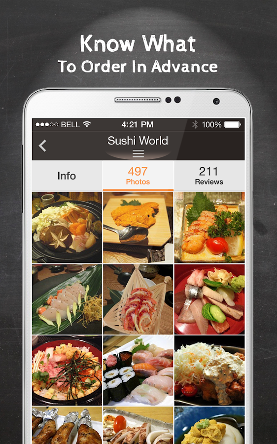 Opensnap food albums search screenshot for Kitchen 88 food truck utah menu