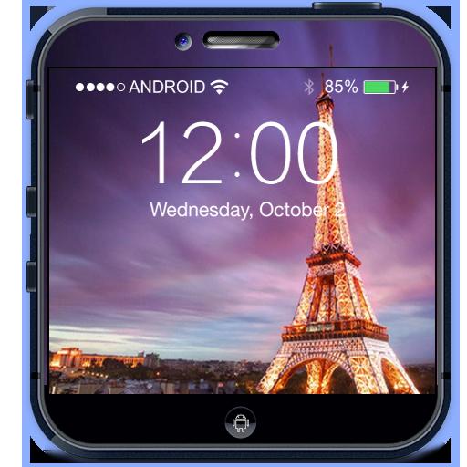 Rainy Paris Lock Screen