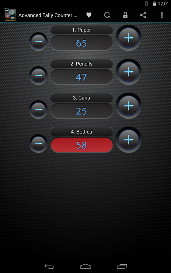Advanced Tally Counter - screenshot