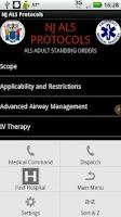 Screenshot of NJ ALS Protocols - AC
