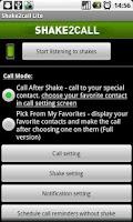 Screenshot of Shake2call Lite