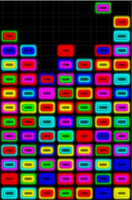 Neon Puzzle Down - screenshot