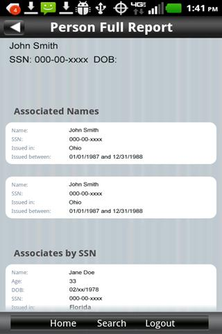 LexisNexis® Accurint® Mobile - screenshot