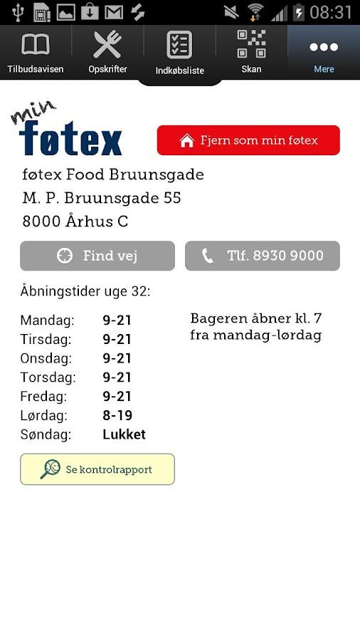føtex Indkøbshjælp- screenshot