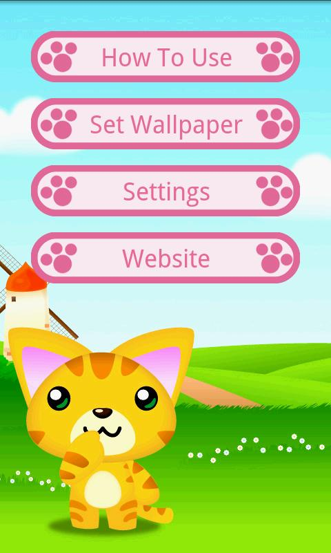 A Cute Cat Live-Wallpaper- screenshot