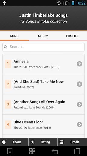 Justin Timberlake Song Lyrics