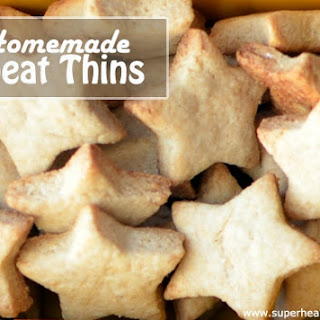 Homemade Wheat Thins For Lunch.